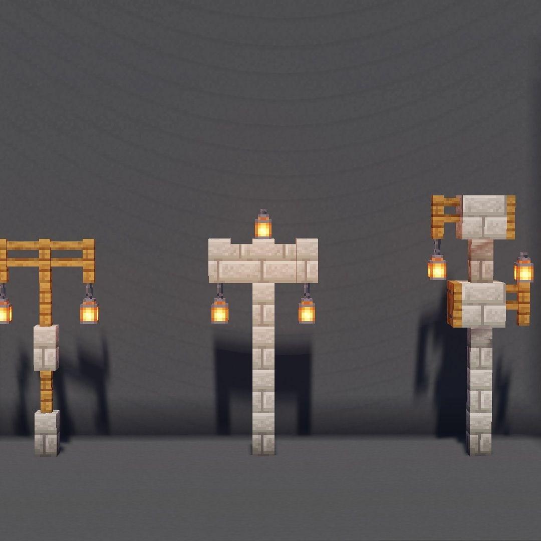 Here Are Three More Lighting Ideas Lantern Edition Swipe For More Minecraft Minecraft4ever Minecraft Architecture Minecraft Minecraft Construction