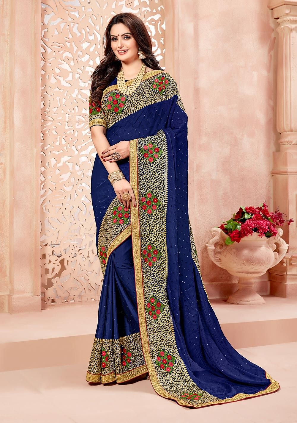 Simple New Saree Designs 2018 2019 Images Lacing In 2019