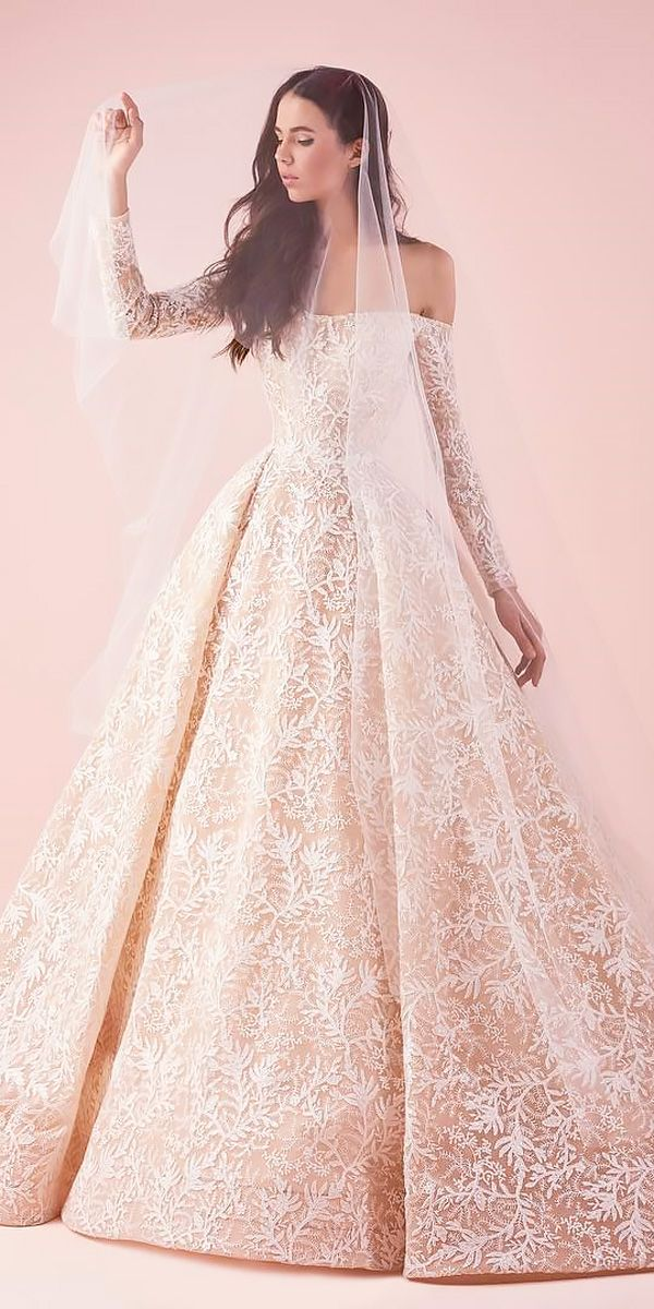 21 Awesome Ball Gown Wedding Dresses You Love | Ball gowns, Long ...