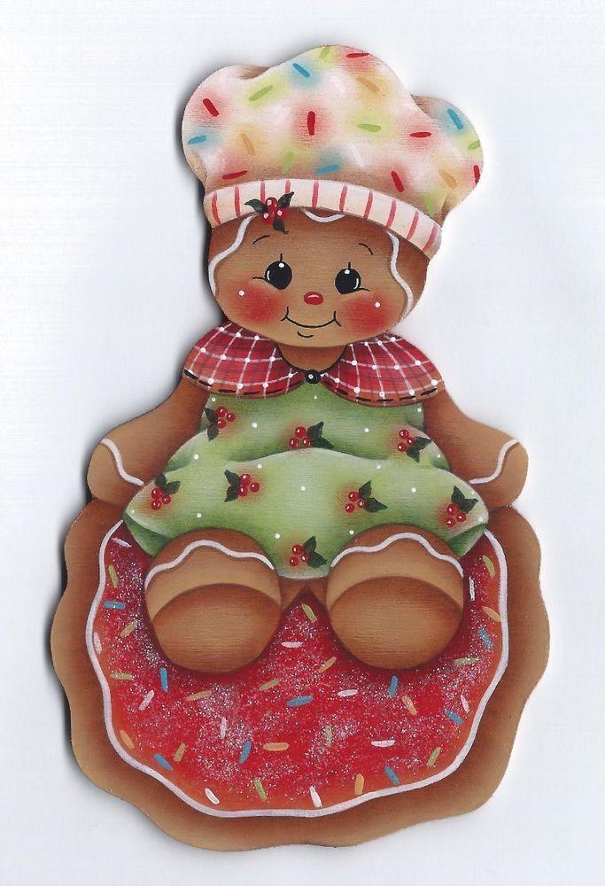 GINGERBREAD Cookie Baker - Handpainted by Pamela House