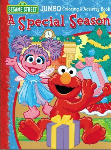 Sesame Street A Special Season With Elmo Jumbo Coloring Activity Book By Bendon Publishing International