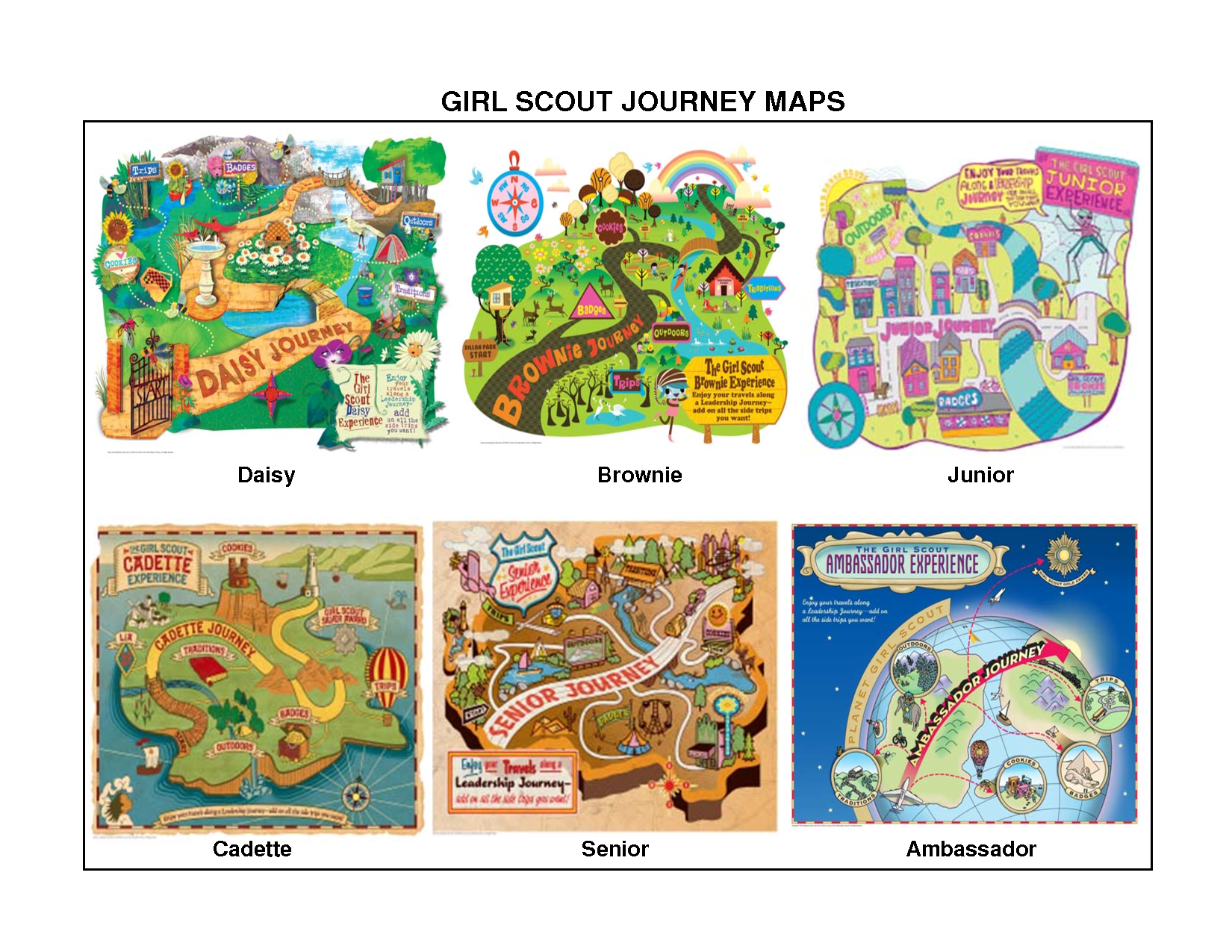 Story Telling Maps From The Girl Scouts Programs
