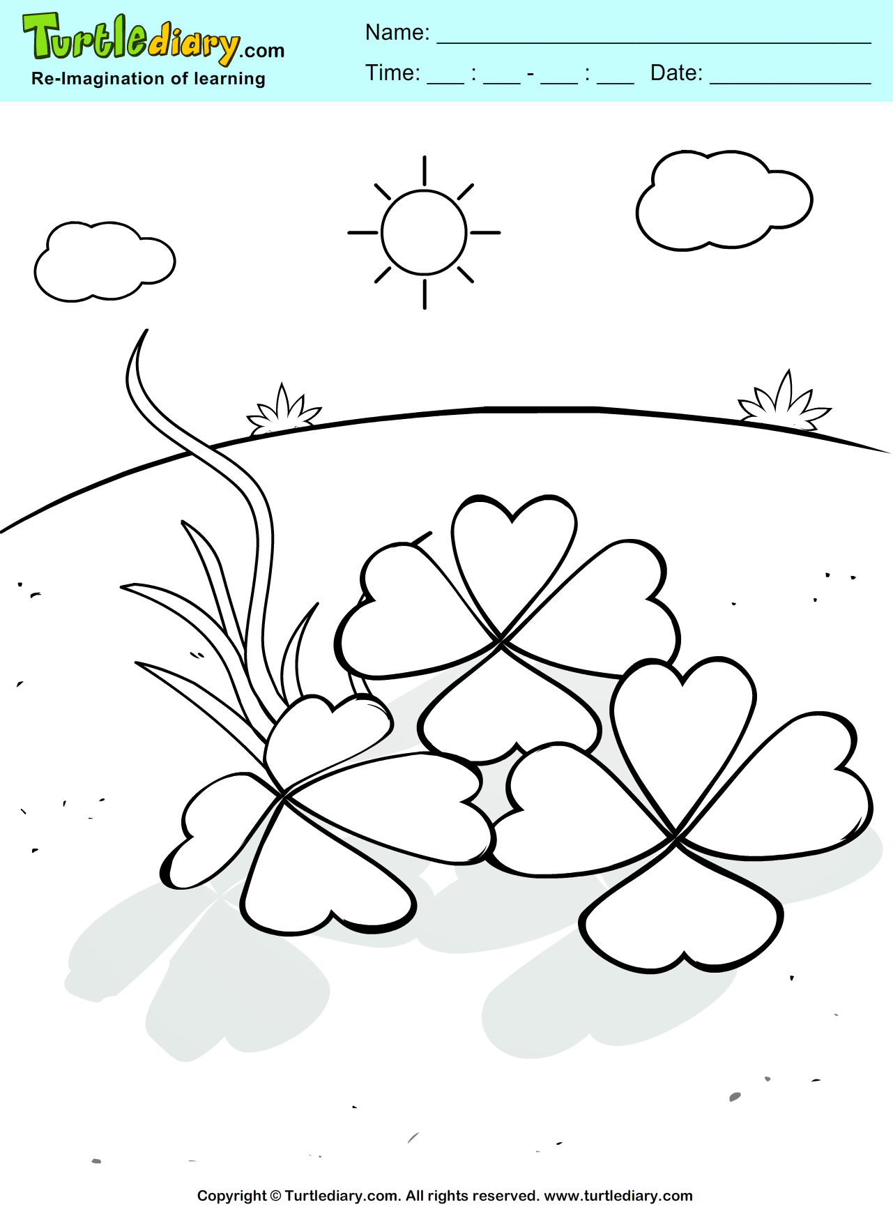 St. Patrick\'s Day Lucky Shamrock Coloring Page. | St. Pat\'s ...