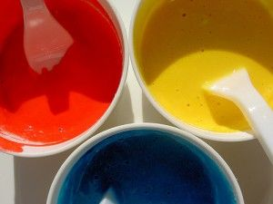 Toddler-safe Paint - uses only flour, water, and food dye | For the ...