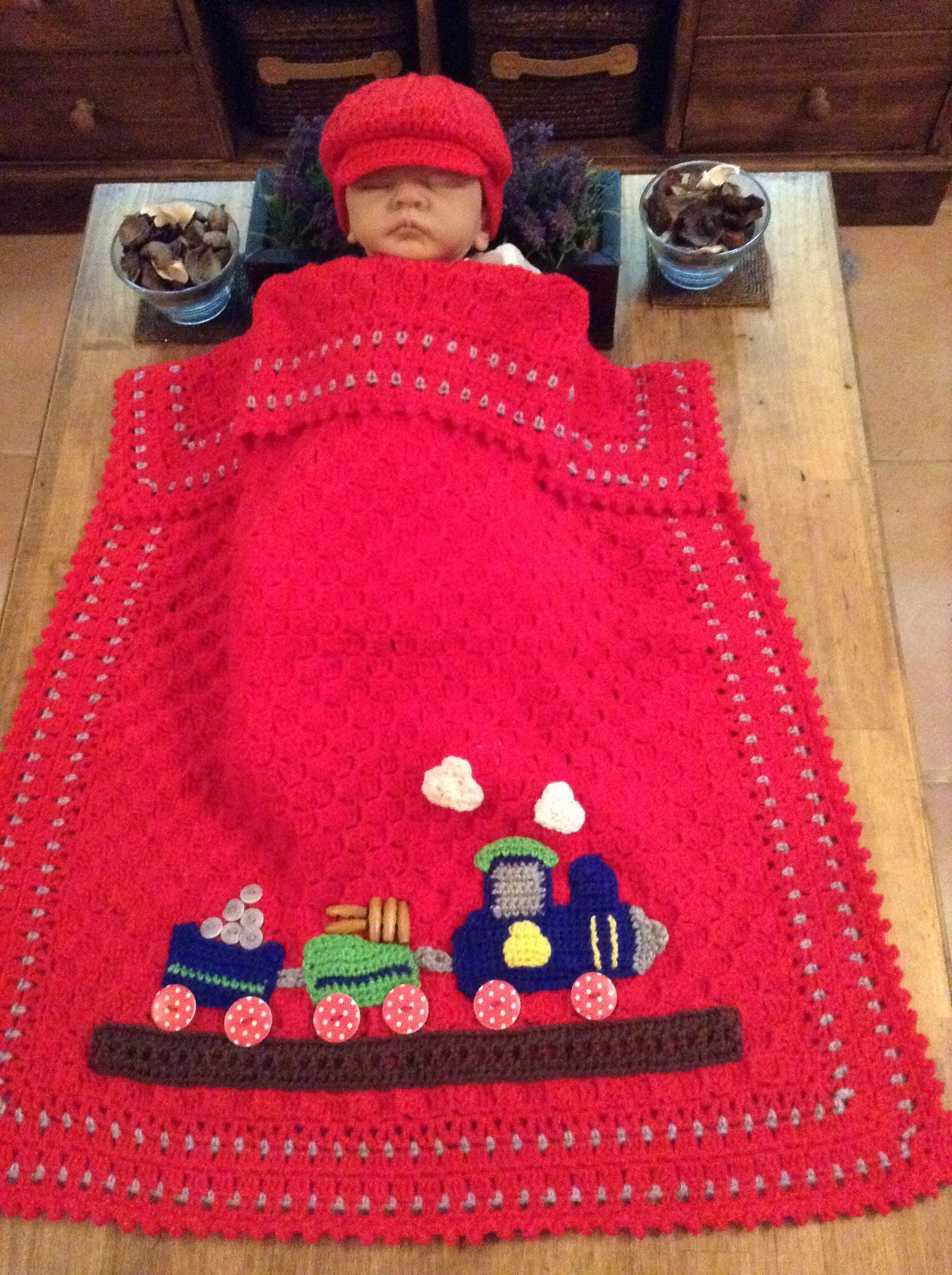 C2C large Buggy Blanket and Cap | crochet 1 | Pinterest | Babydecken ...