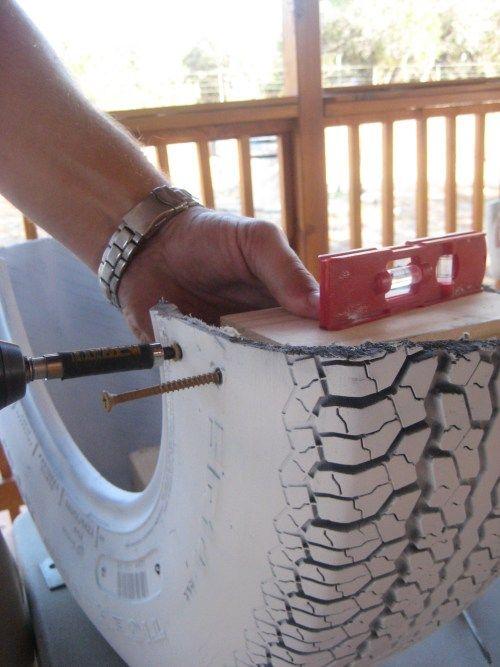 DIY: Recycled Tire Rocker (aka Tire Teeter Totter)
