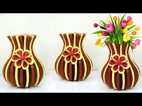 cardboard flower vase  sc 1 th 194 & cardboard flower vase | Craft Ana | Flower vases Flowers Flower making