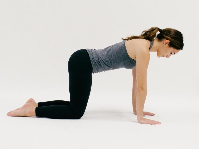 Tabletop Rise From Child S Pose To Tabletop With Your Shoulders Stacked Over Wrists And Your Hips Stacked Over Kn Morning Yoga Poses Yoga Poses Morning Yoga