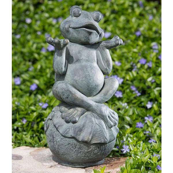 Lovely Alfesco Home Care Free Frog Garden Statue   The Care Free Frog Garden  Statue Will Enchant Your Garden. This Adorable Little Froggy Is Made Of ...