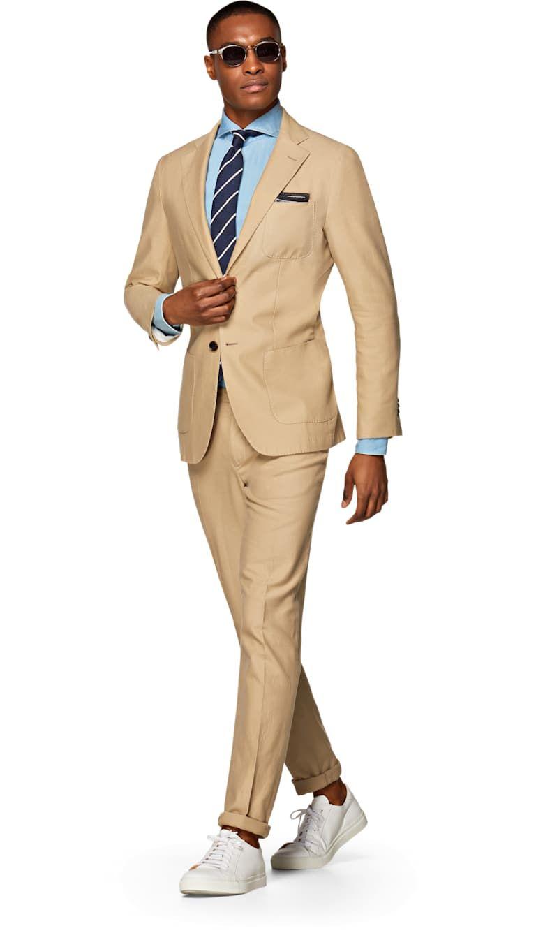 Jort Light Brown Suit Suitsupply Online Store Brown Blazer Men
