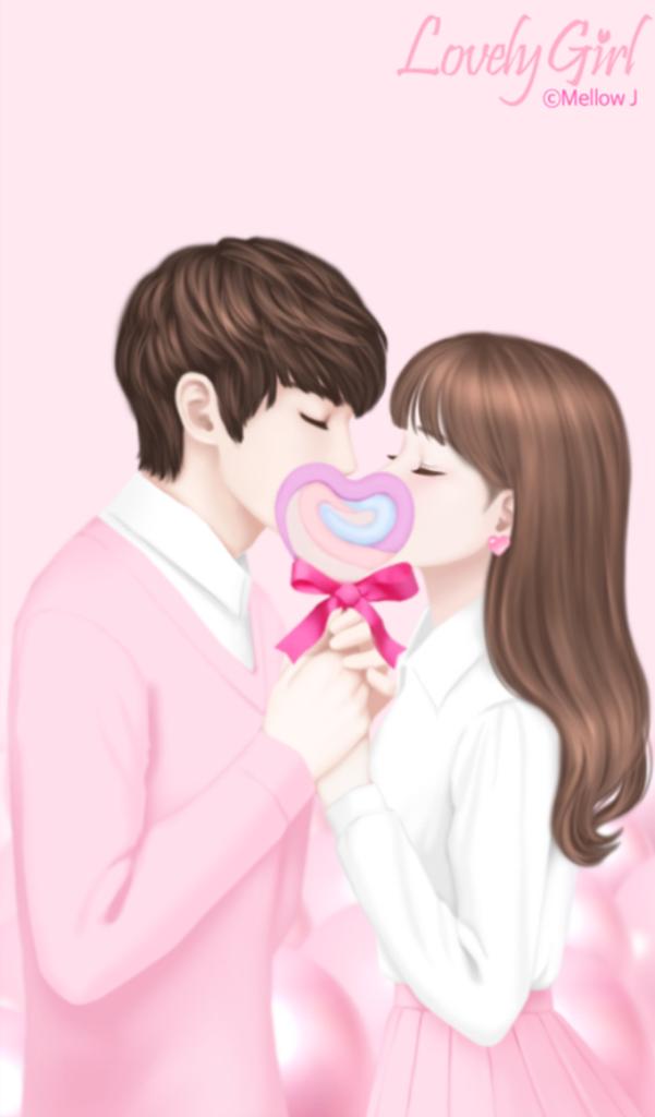 Love Pasangan Animasi Animasi Dan Kertas Dinding border=