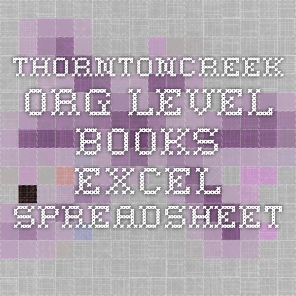 thorntoncreekorg level books excel spreadsheet Books for 2nd and