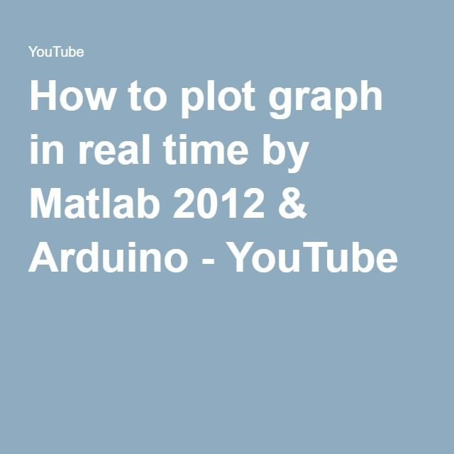 How to plot graph in real time by Matlab 2012 & Arduino