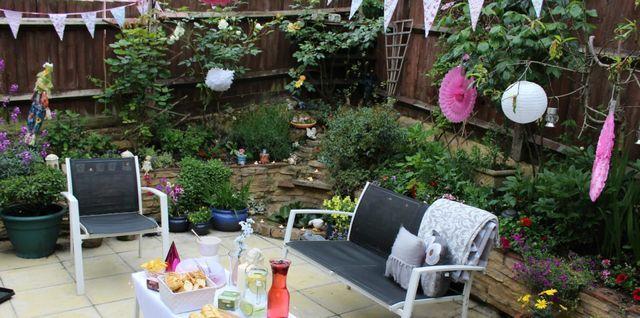 My sisters garden birthday