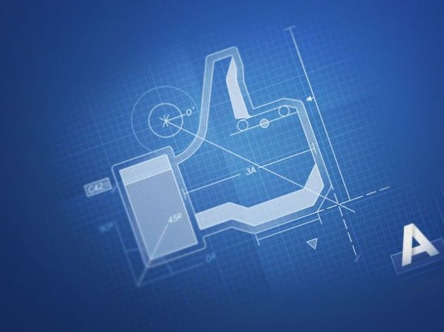Facebook like blueprint graphic arch miscblueprints facebook like blueprint graphic malvernweather Images