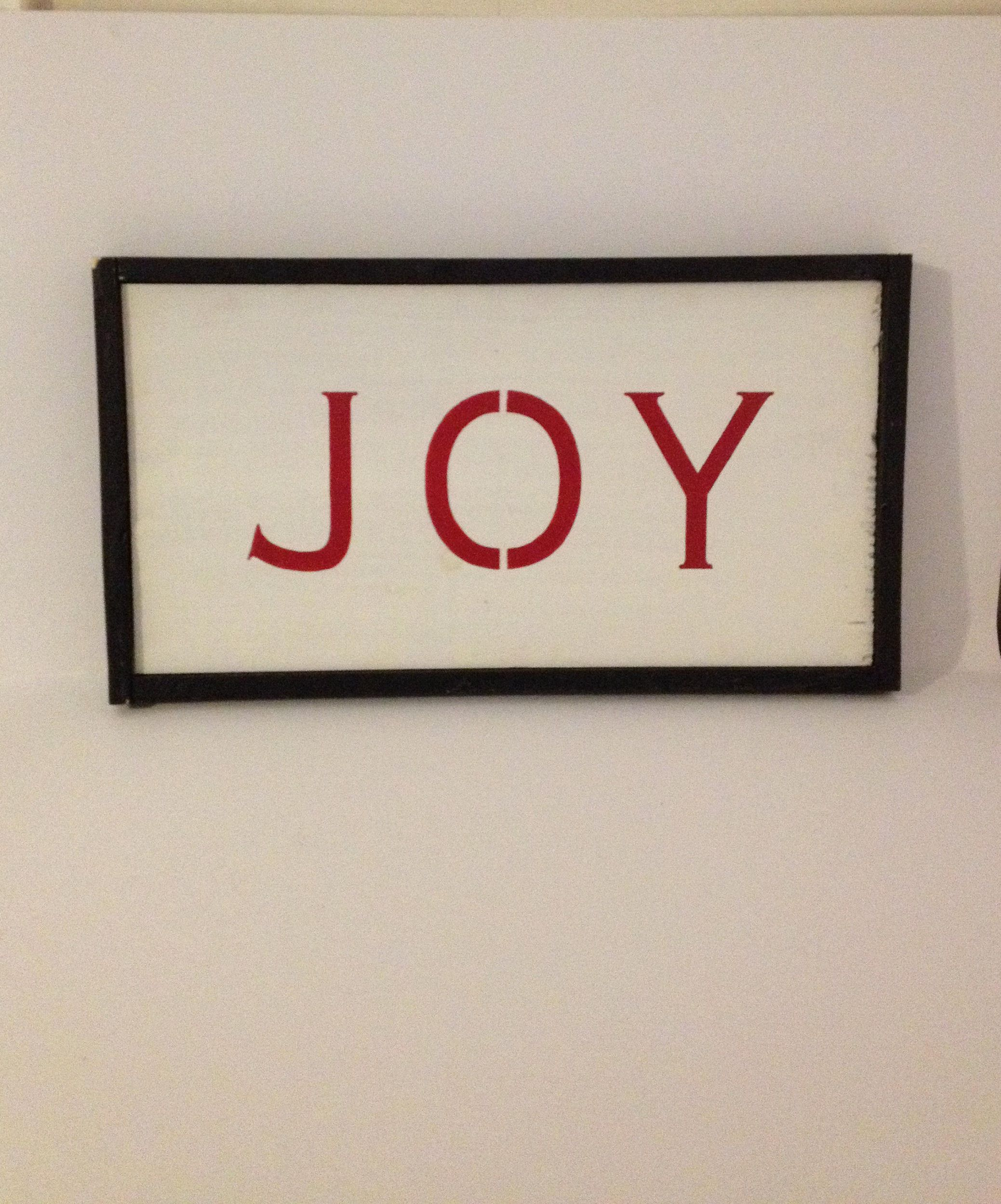 Hand crafted distressed rustic wood christmas ujoyu sign hand