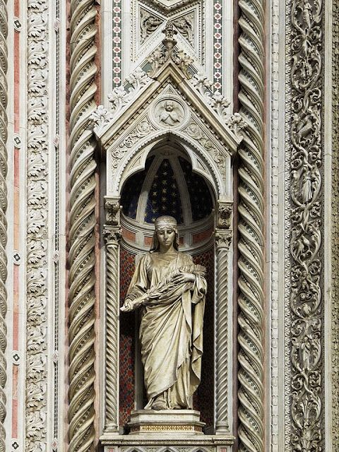 Statue of Saint Reparata by Amalia Dupré, Santa Maria del Fiore, Florence