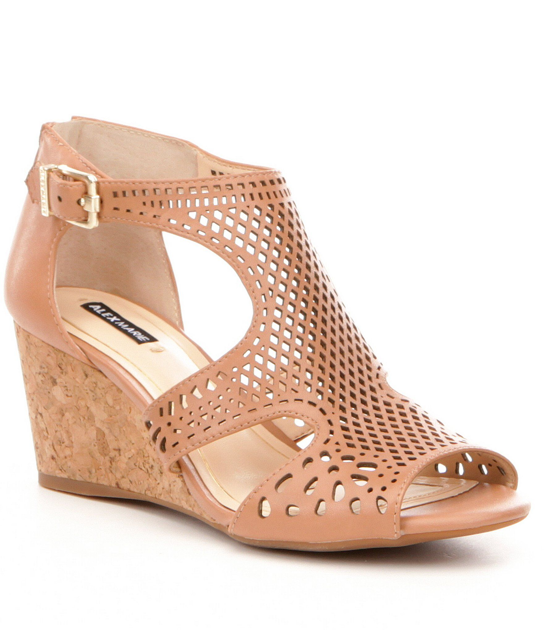 Alex Marie Maxyne Cork Wedge Sandals | Dillards