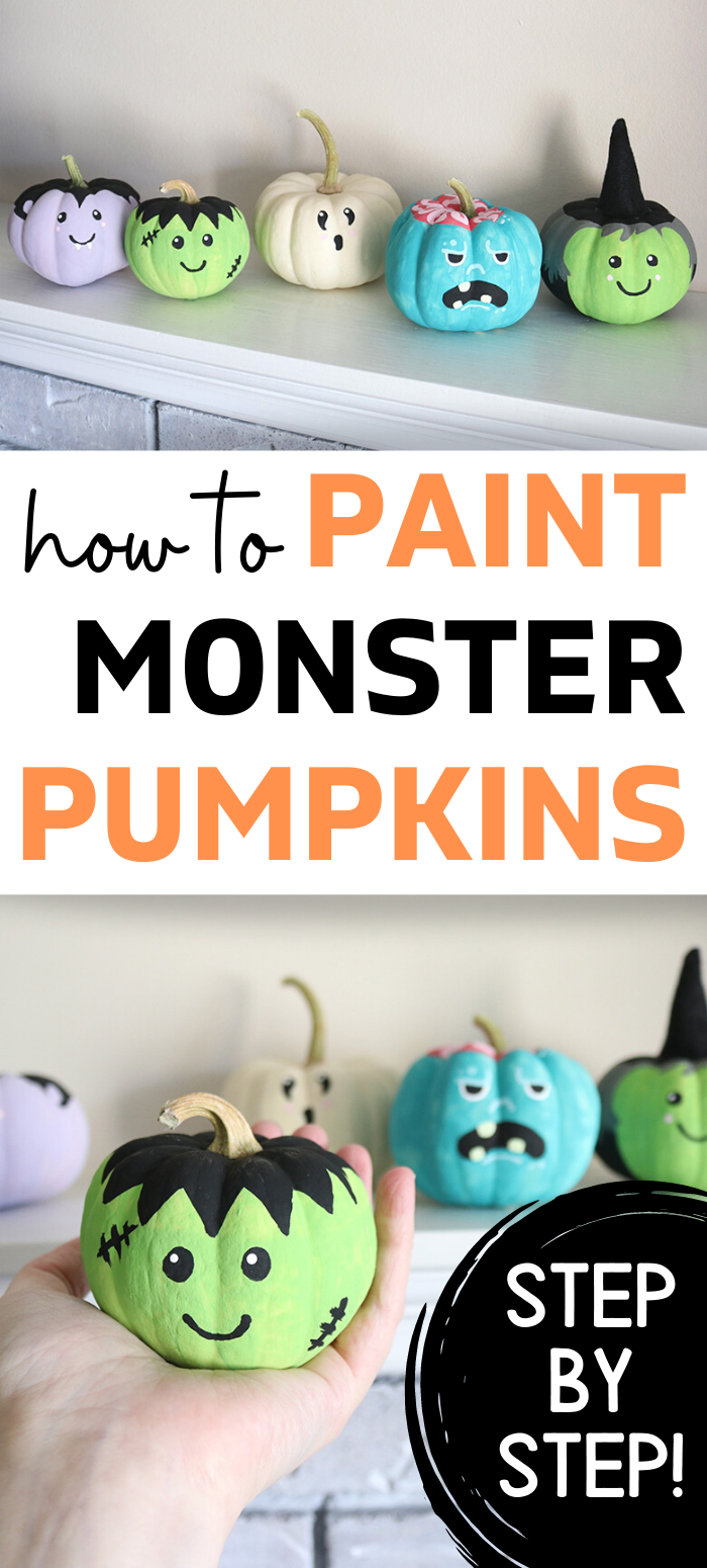 Photo of How to Paint Monster Face Pumpkins–Easy DIY!