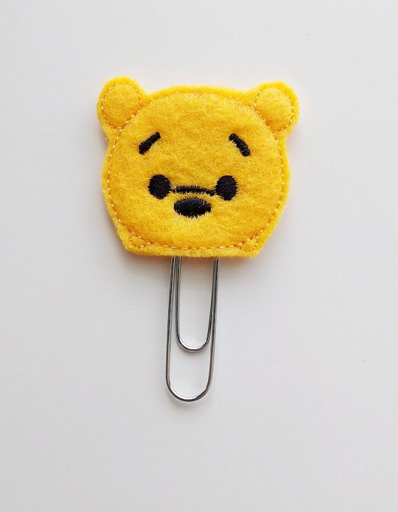 Tsum Tsum Winnie the Pooh Felt Paperclip | Bookmark | Clip | Planner Accessories | Feltie | Planner Clip | Paper Clip | Pooh Bear Bookmark