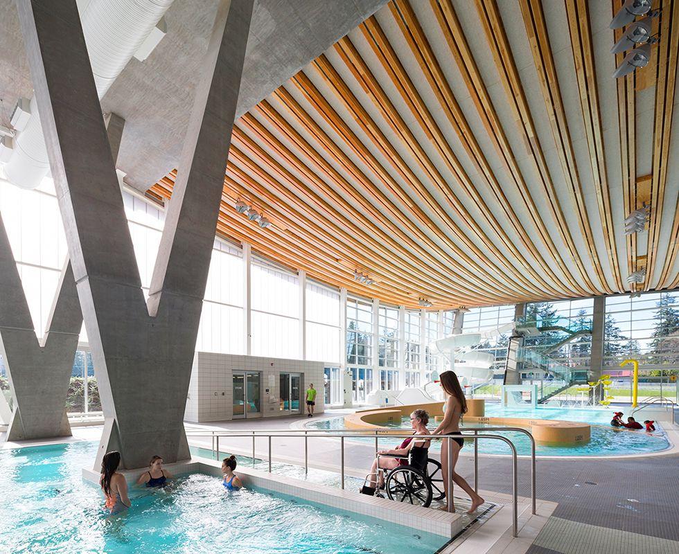 Grandview Heights Aquatic Centre Surrey Canada Sport In Architecture 2016 Wan Awar Rehabilitation Center Architecture Architecture Concept Architecture