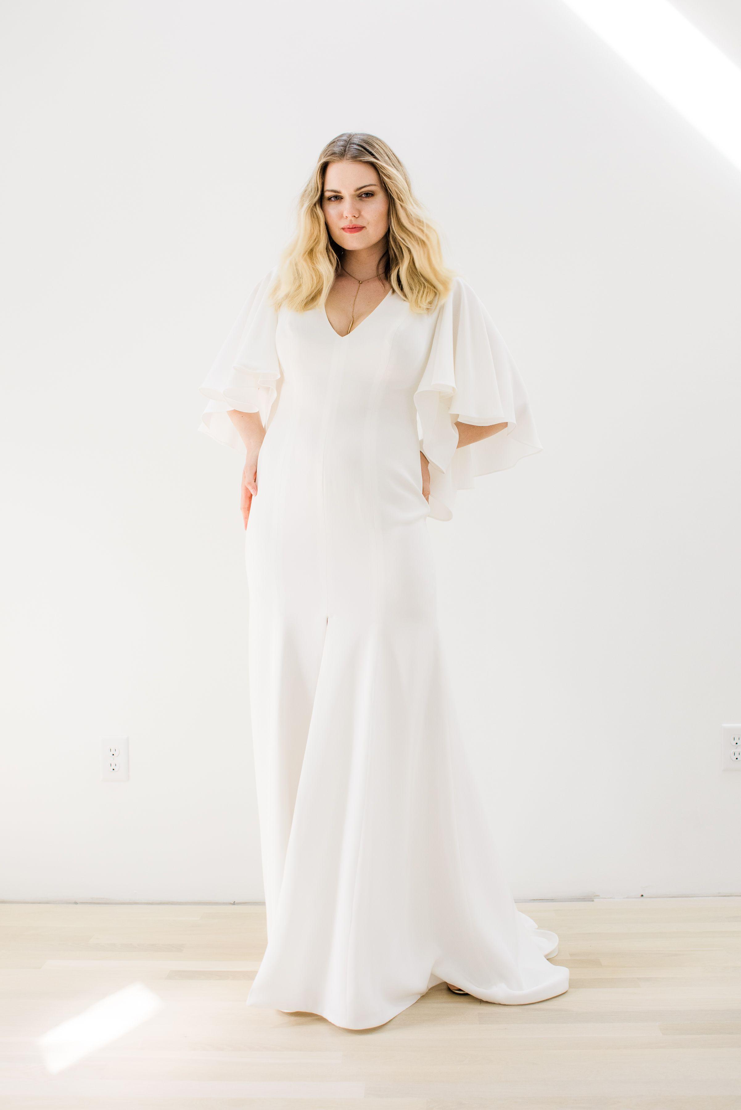Drape Sleeve Wedding Dress For The Modern Minimalist Bride