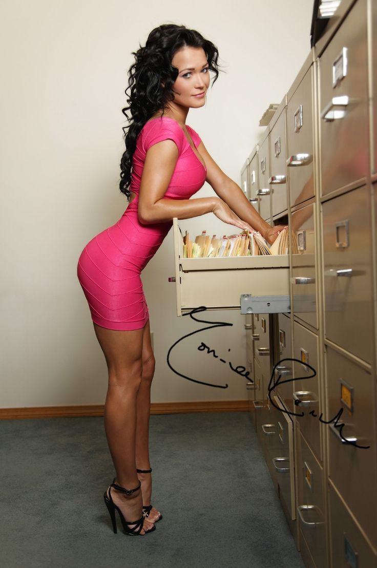 hotminiskirts:  Monica Roach as an office worker we'd all love to work with, wearing a tight pink mini dress and heels.  Check out our other blogs and pages:http://bikinicelebs.tumblr.comhttp://www.oohlala.clubhttp://racychicks.tumblr.comhttp://fitandhot.tumblr.com
