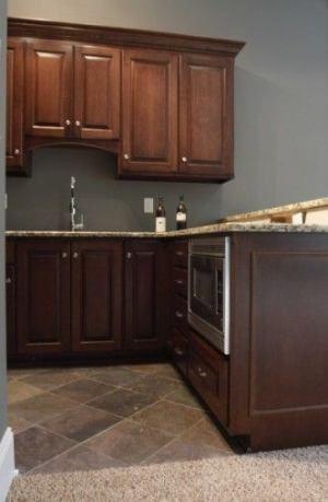 19+ ideas kitchen colors schemes brown dark wood | dark