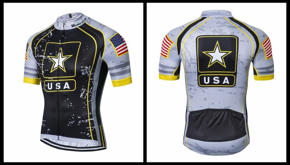 c383b88c9 Weimostar USA Army Team Cycling Jersey Men Racing Cycling Clothing Summer mtb  Bike Jersey Downhill Bicycle