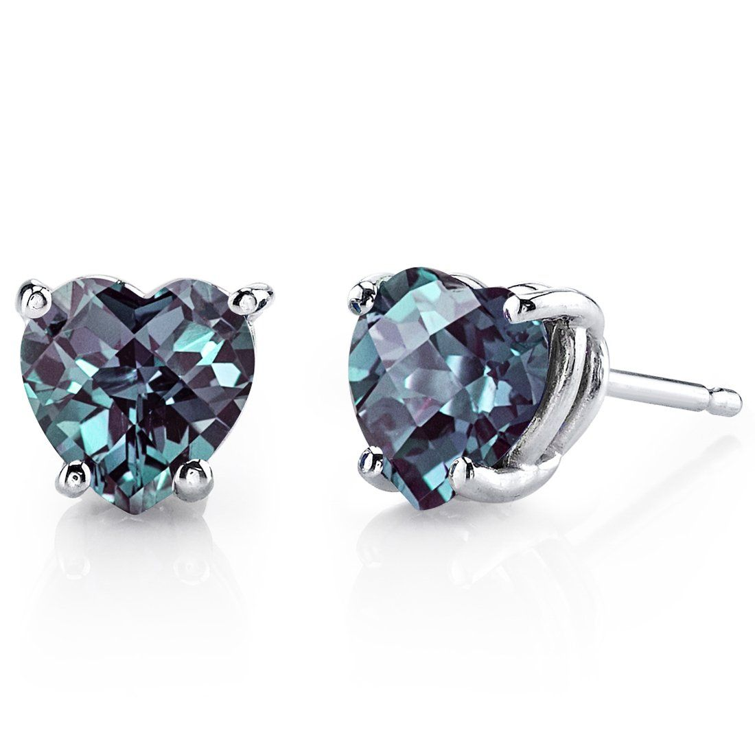 alexandrite pear cut earrings gemross a in stud en silver