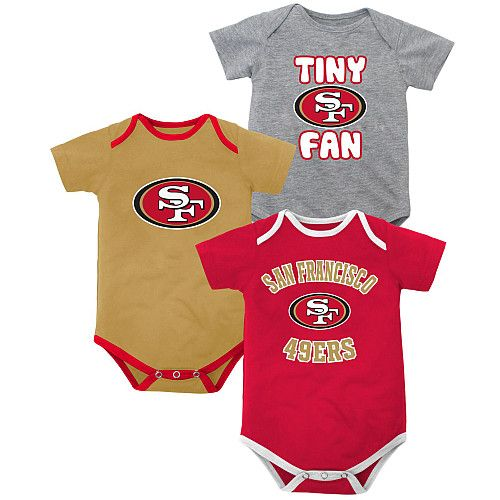 San Francisco 49ers Football NFL Baby Infant Newborn creeper Bodysuit Boys Girls