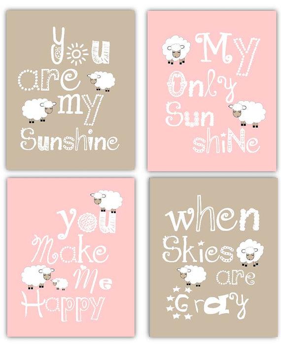 Pink Art For S Lamb Nursery Decor