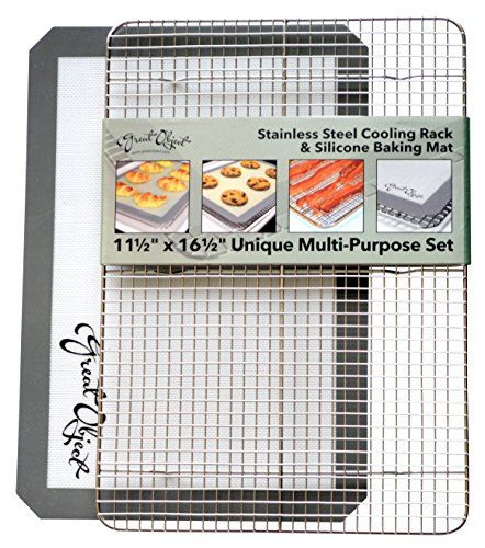 Premium Stainless Steel Cooling Rack Silicone Baking Mat Cookware