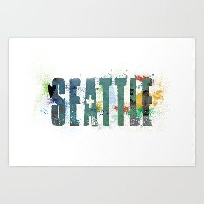 Seattle Art Print by Tonya Doughty
