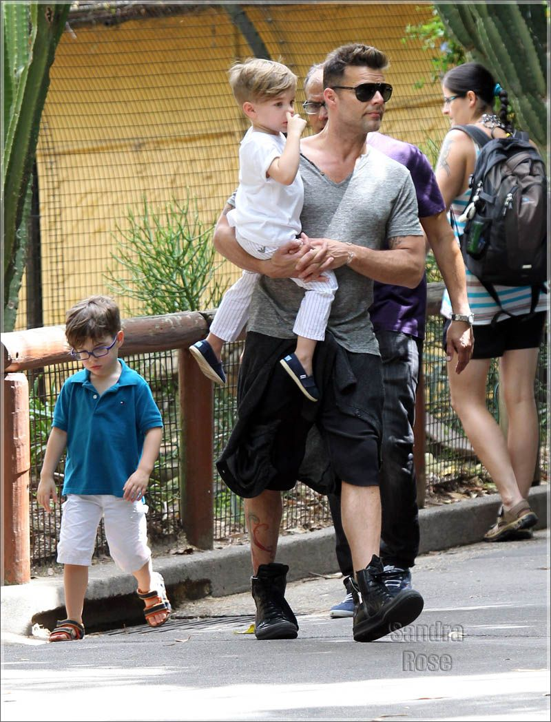 Are Ricky martin twin sons can look