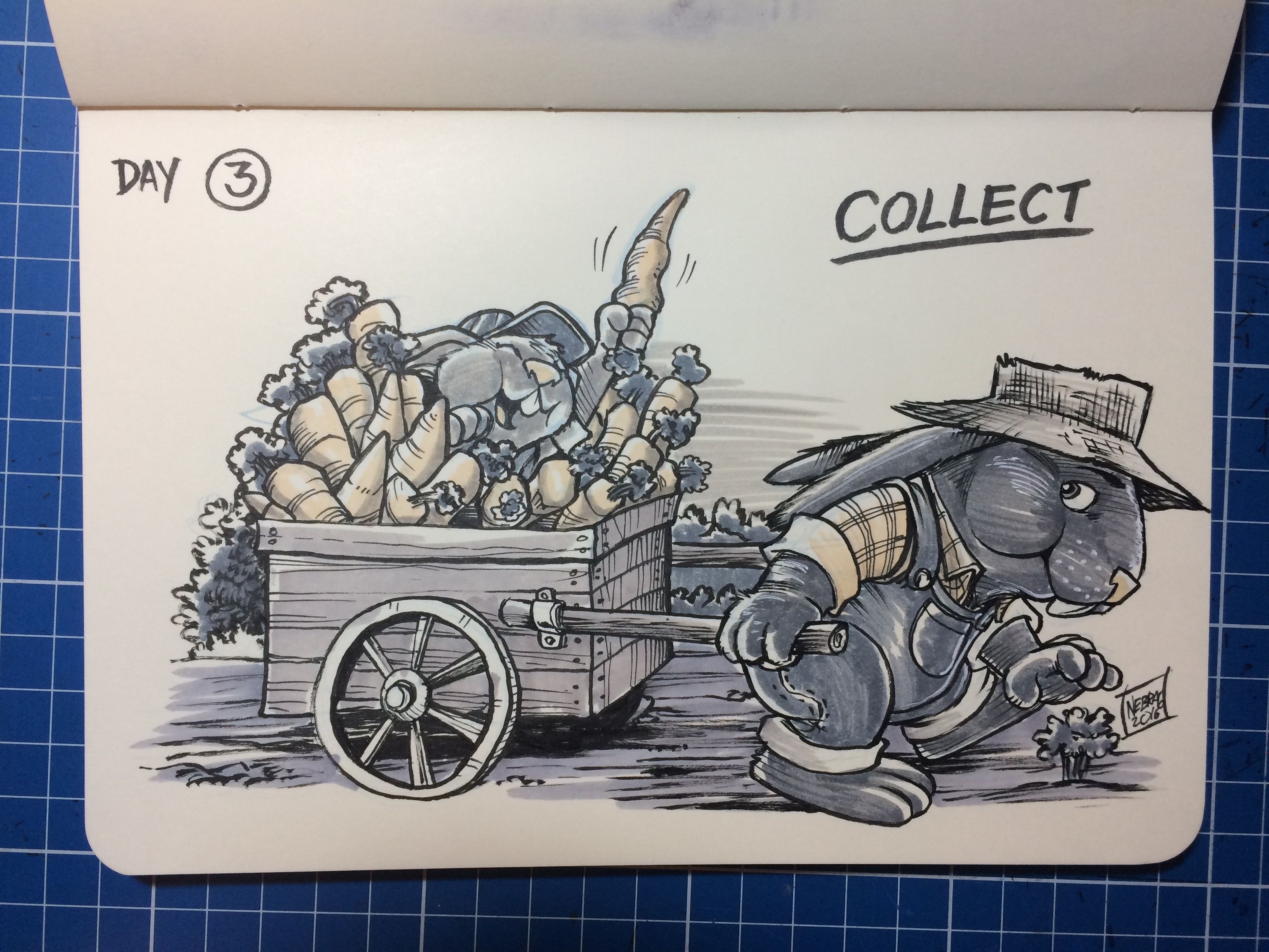 Inktober 2016 day 3 COLLECT