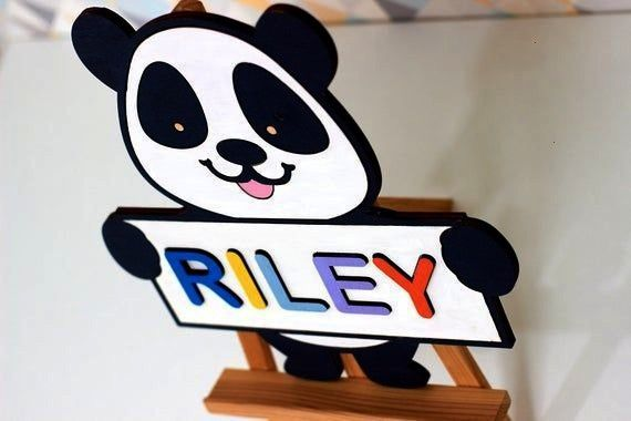baby Puzzle Wooden Baby name puzzle for Toddler Baby Gift Montessory Toys Nursery Decor First name boy 2019 name boy list names boy biblicalPanda baby Puzzle Wooden Baby...
