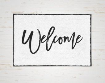 Welcome Door Mat, Welcome Doormat, Custom Mat, Door Mat, Front Door ...