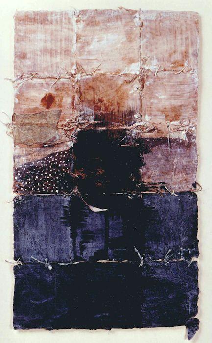 Takahiko Hayashi ~ D-18, 1987 (painting, collage)