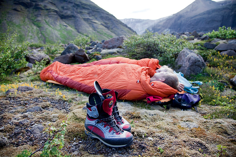 Sleeping in the nature. In a tent or in a good weather without a one.
