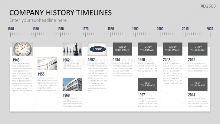 History Black Timeline Powerpoint