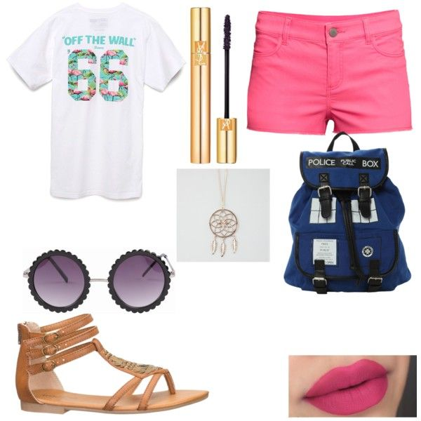 Beach day by foreverclassy508 on Polyvore featuring polyvore fashion style Vans H&M maurices Full Tilt Yves Saint Laurent
