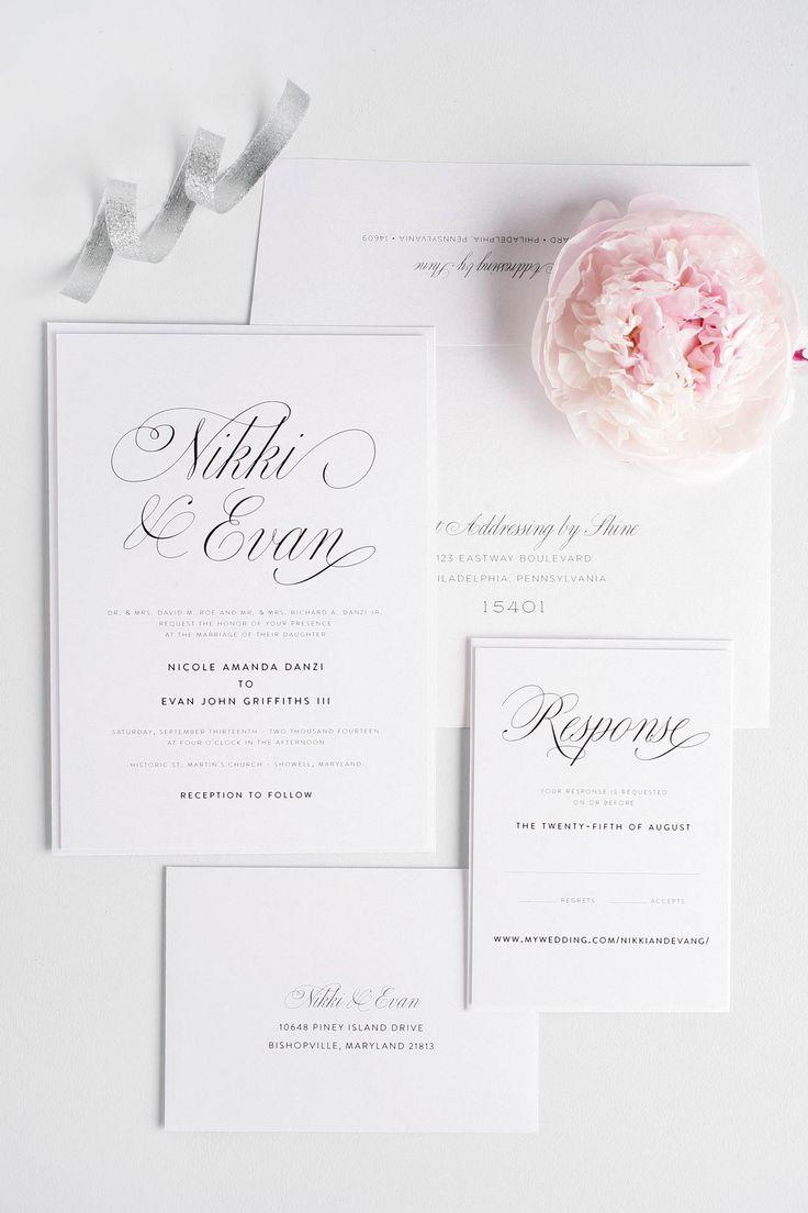Amazing of Romantic Wedding Invitations 17 Best Ideas About ...
