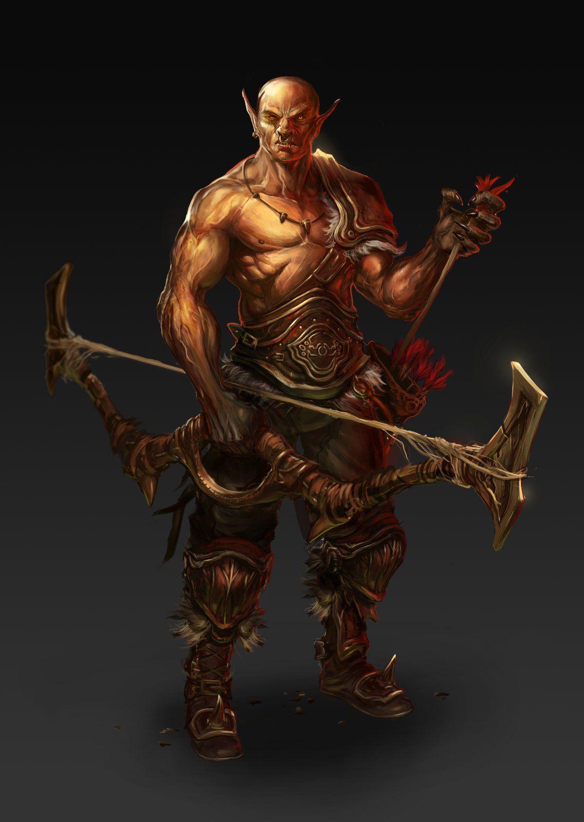 Orc Archer, Selver Dervisic | Warrior concept art, Epic art, Fantasy  characters