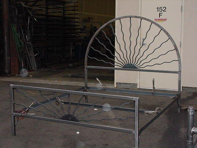 custom metal bed frame by fabworx inc
