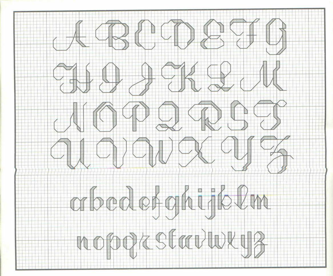Abc a punto scritto alfabeti a punto scritto cross for Lettere a punto croce schemi