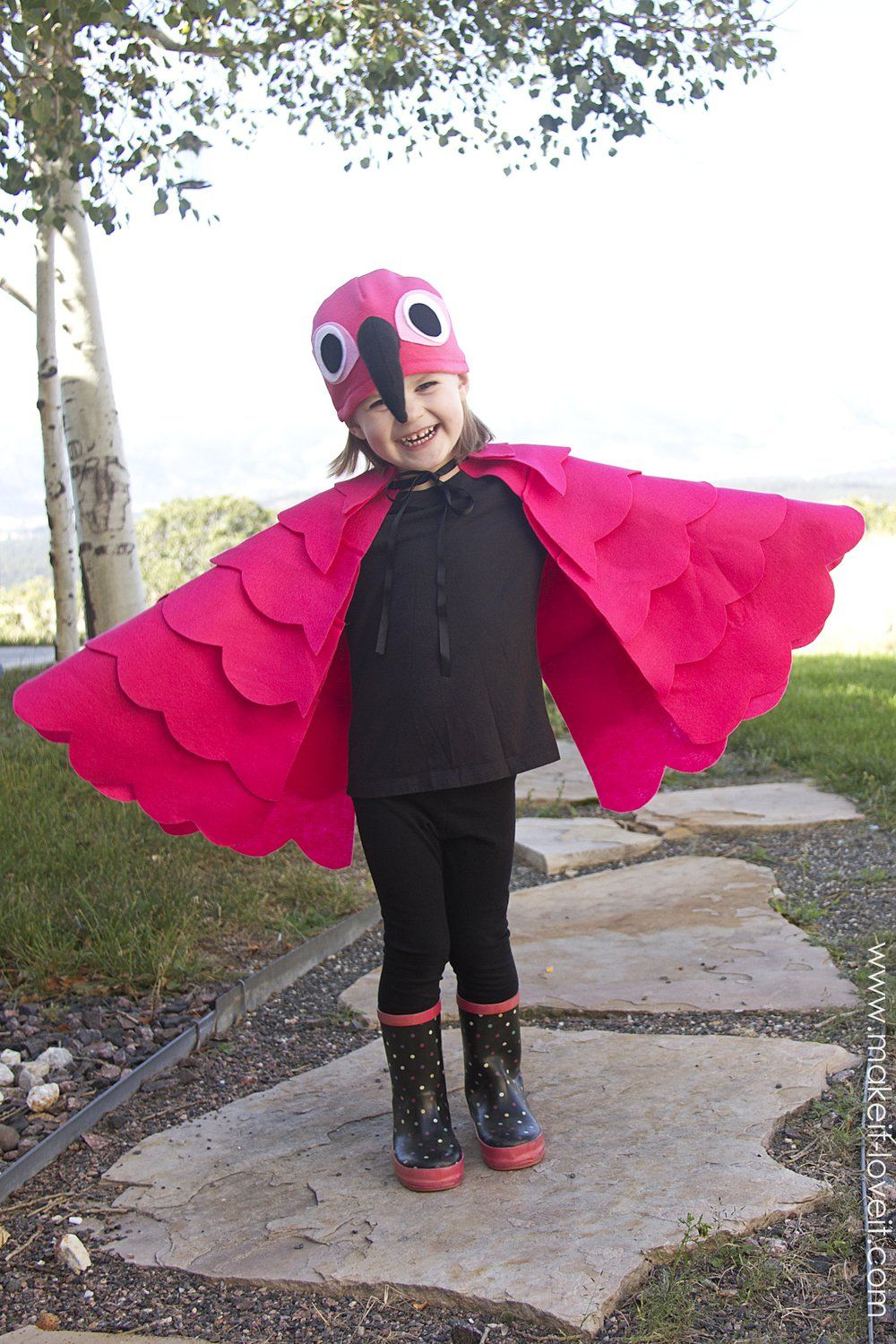 A simple DIY Flamingo Costume.....for any age! --- Make It and ...