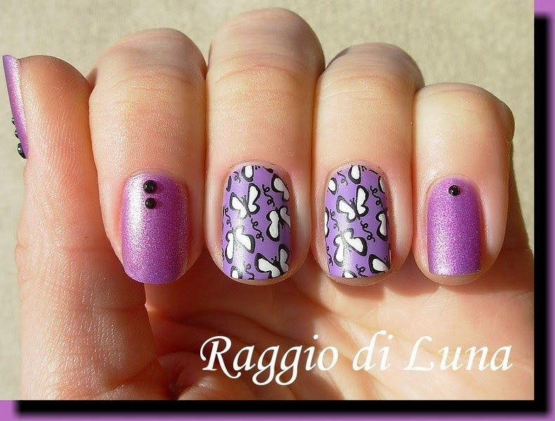 Violet Buttterfly Stamping Nails : http://raggio-di-luna-nails.blogspot.it/2015/02/born-pretty-store-review-stamping-plate_20.html