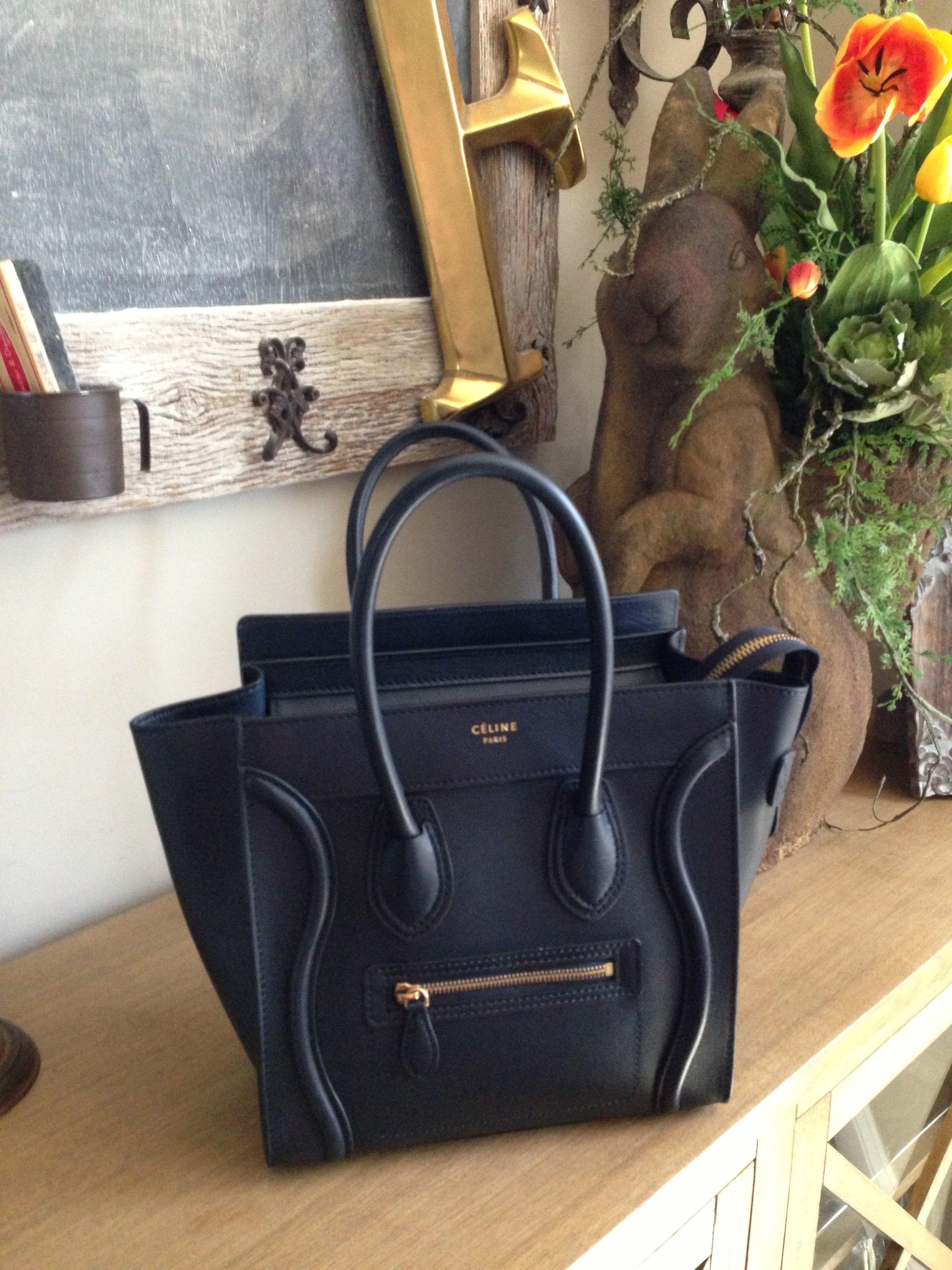 6e155256fad7 Celine Micro Bag - Navy Blue
