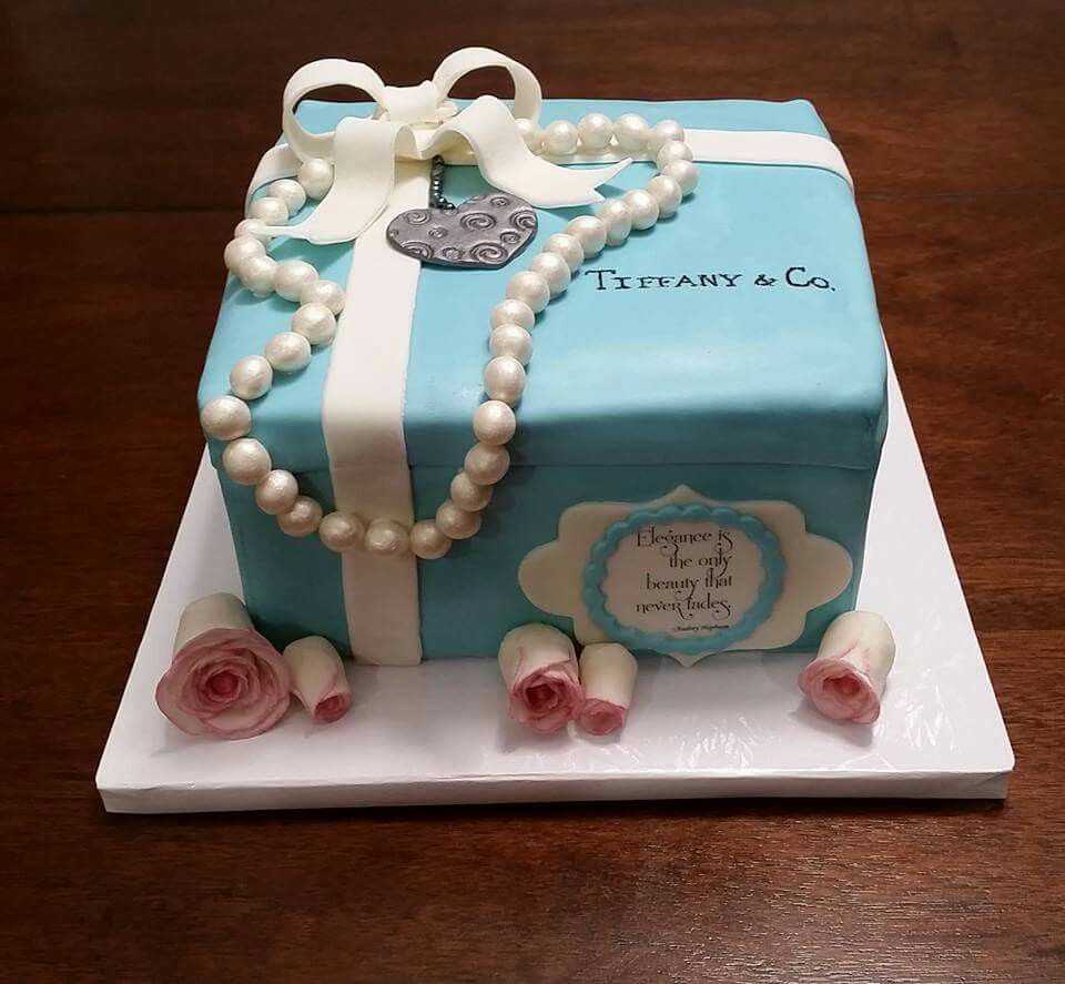 Tiffany theme cake for a 25th birthday Cakes for Her Pinterest